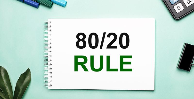 اصل پارتو یا قانون 20/80 چیست؟